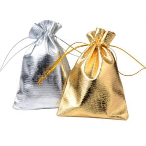 Gift bag zilver en goud