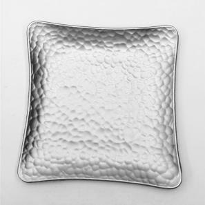 Schaaltje zilver vierkant