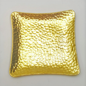 Schaaltje vierkant goudkleurig