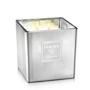 Geurkaars zilver - Spring by InteriorScent